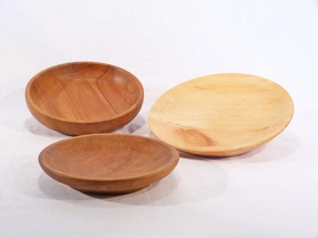 Fa konyhai eszközök esztergált fatál K-19