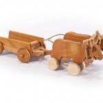 Fajáték járművek kétökrös szekér JJ-20