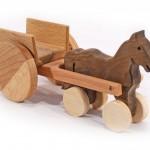 Fajáték járművek lovaskordé JJ-21