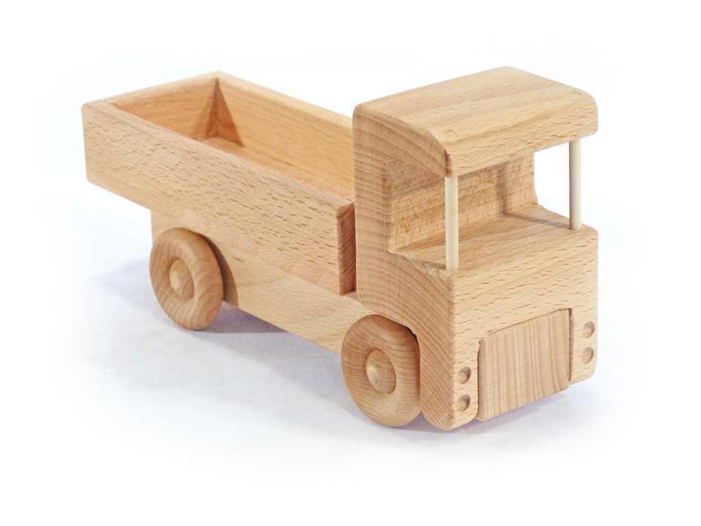 Fajáték teherautó fix platós JJ-16
