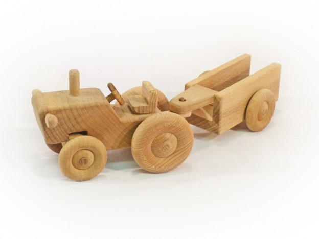 Fajáték járművek traktor pótkocsi JJ-12