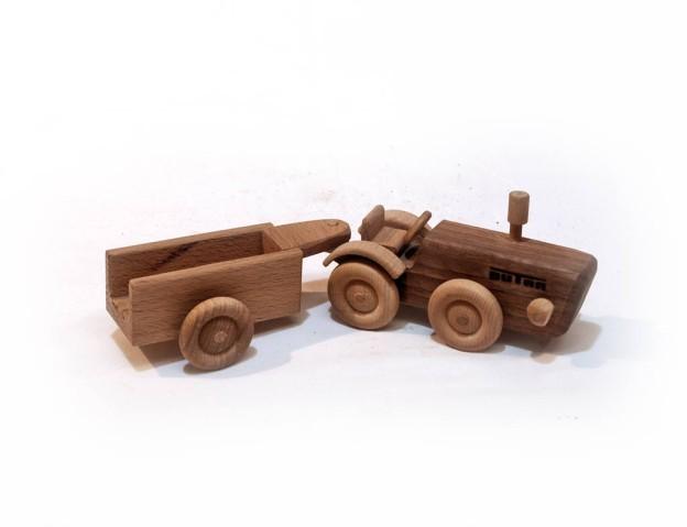 Traktor (Dutra) + pótkocsi