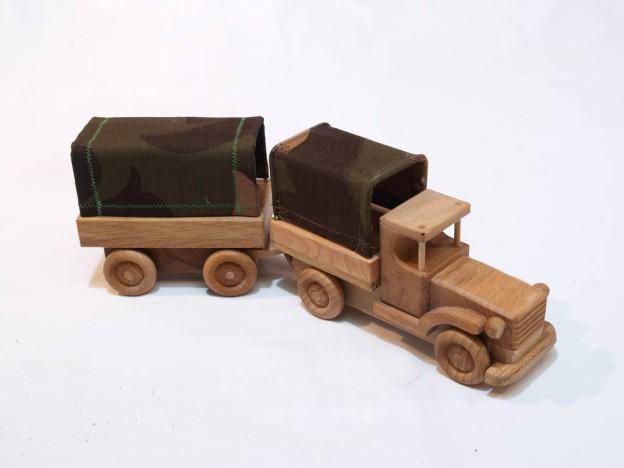 Teherautó (ponyvás - pótkocsis)